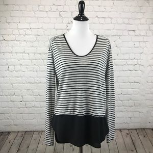 Zara - Gray and Black Stripped Top